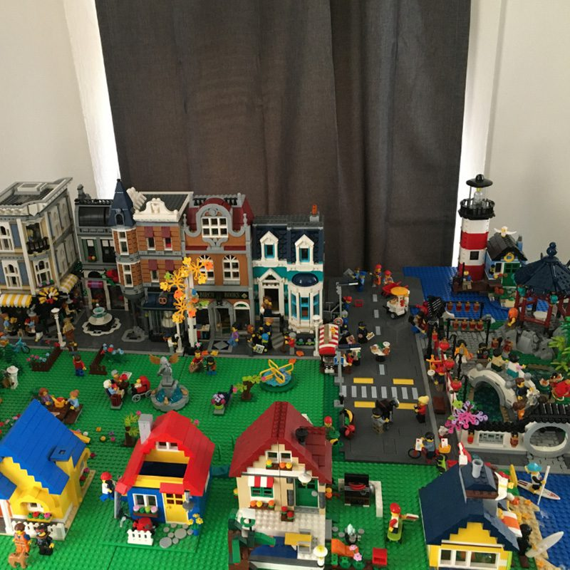 Hidden Talents - City of Buildings and Houses Built from Legos