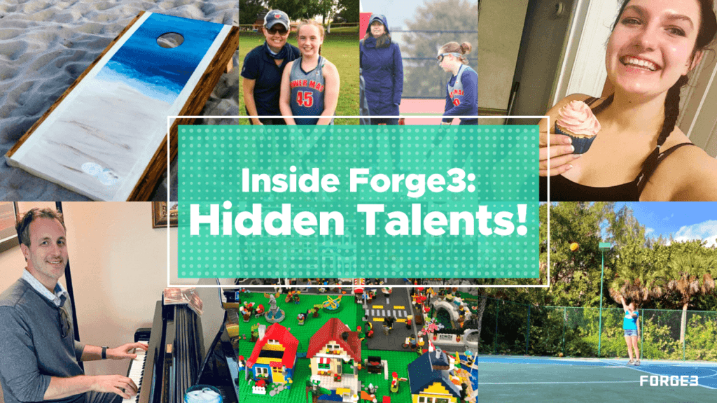 Inside Forge3 - Hidden Talents - Collage of Team Doing Activities